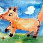 рисунок лисичка