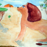 рисунок лев