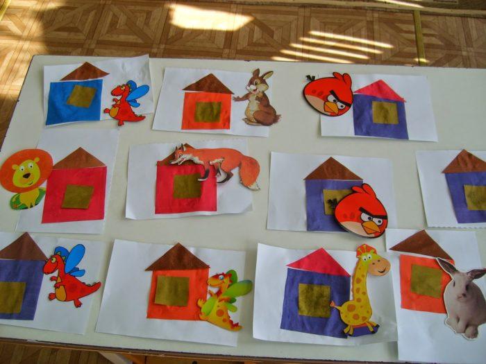 Домики с энгри бёрдс, зайцем, жирафом, драконом