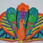 павлин — пластилинография