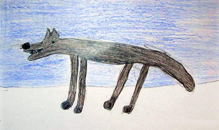 Горизонтальная штриховка волка