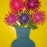 Хризантемы — пластилинография