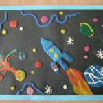 Космос — пластилинография