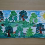Коллективная работа «Летний лес»