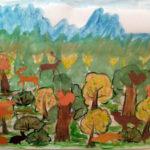 Коллективная работа «Звери в осеннем лесу»