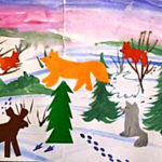 Коллективная работа «Зима в лесу»