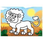 шаблон — лев