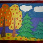 Осень в лесу — пластилинография