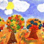 Осенние деревья -пластилинография