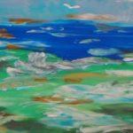 морской пейзаж, выполненный пластилином