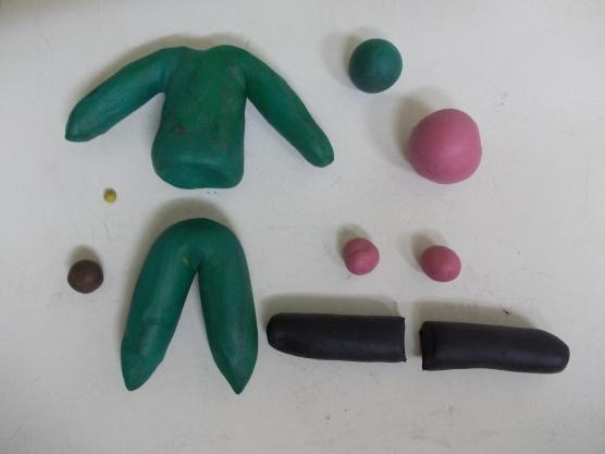 Пластилиновые заготовки для солдата: продолжение