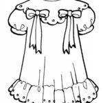 Платье для куклы — шаблон