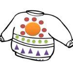 Украшенный рисунок свитера с узорами