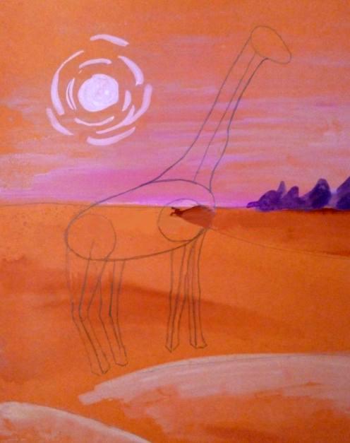 «Жираф» дорисовка ног