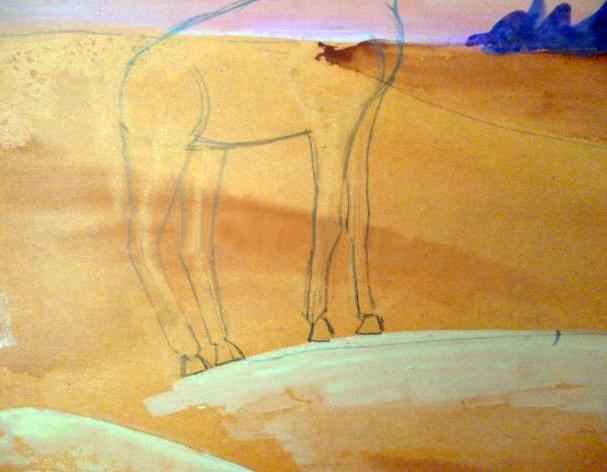 «жираф» стереть вспомогательные линии на рисунке