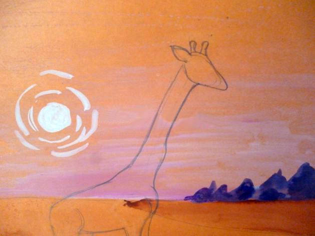 «Жираф» оформление мордочки и рожек