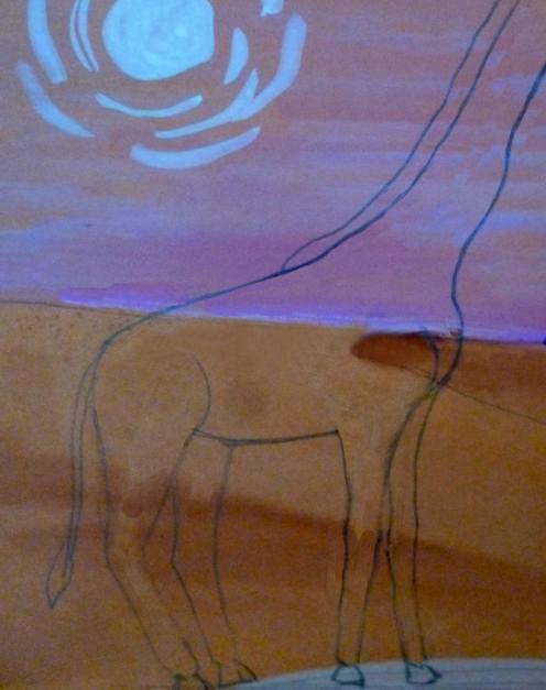 «Жираф» дорисовать гриву и хвостик