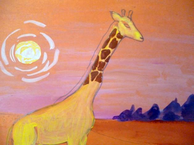 «Жираф» прорисовывание пятен