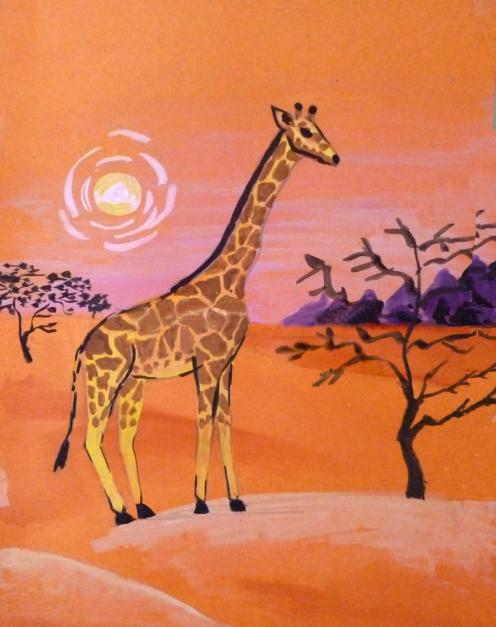 «Жираф» оформление кустов