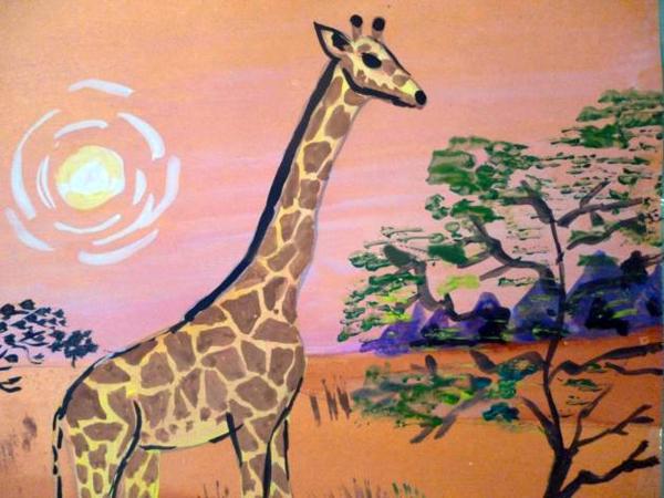 «Жираф» прорисовка крон деревьев