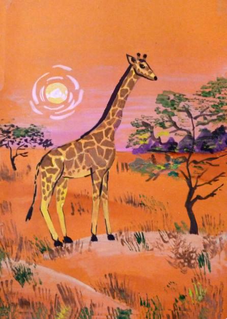 «Жираф» готовая работа