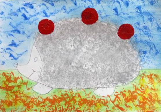 «Ёжик делает заготовки на зиму» дорисовка яблок