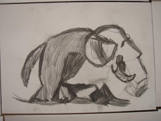 «Слонёнок» набросок