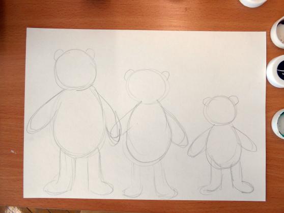 «Три медведя» набросок