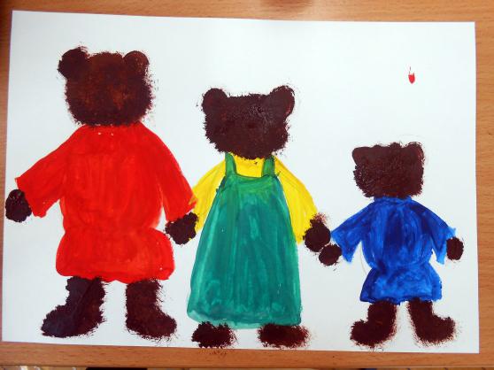 «Три медведя» дорисовывание шерсти