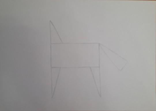 «Лошадка» четвёртый этап рисунка