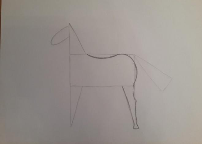 «Лошадка» закругление очертаний животного