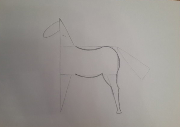 «Лошадка» прорисовка живота