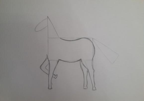 «Лошадка» рисование передних ног