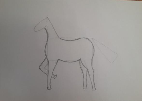 «Лошадка» рисование груди и шеи