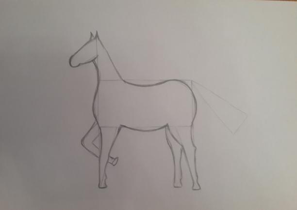 «Лошадка» рисование головы