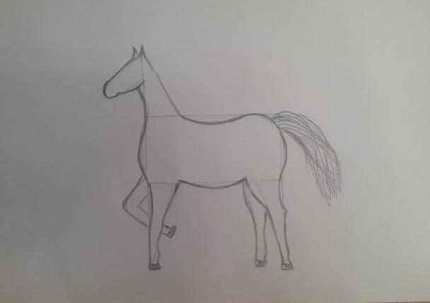 «Лошадка» дорисовка хвоста