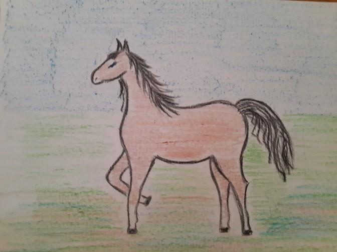 «Лошадка» готовый рисунок