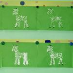 Пуантилизм (ватные палочки) лошадки