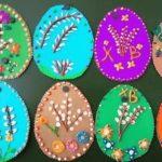 расписные пасхальные яйца — пластилинография