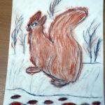 Рисование сангиной «Белка»