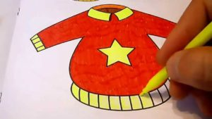 рисование свитера