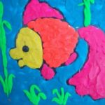 рыбка — пластилинография