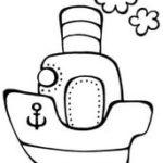 шаблон — кораблик