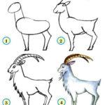 Схема рисоания козлик