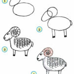 Схема рисования овцы