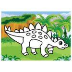 шаблон — стегозавр