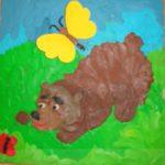 Медведь пластилинография