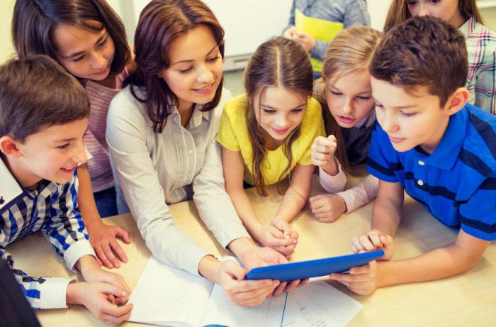 Беседа учеников и учителя