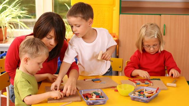 Работа педагога с детьми