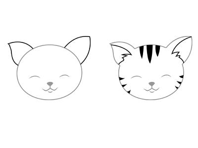 Котёнок-тигрёнок, фото без полосок и с полосками